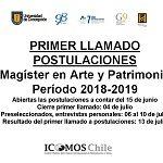 Imagen ABIERTAS POSTULACIONES PROGRAMA MAGÍSTER EN ARTE Y PATRIMONIO PERIODO 2018 – 2019