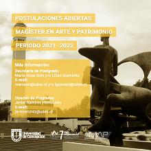 Imagen Abierta la convocatoria a postular al Magíster en Arte y Patrimonio UdeC período  2021-2022: