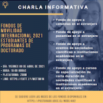 Imagen CHARLA INFORMATIVA: FONDOS DE MOVILIDAD INTERNACIONAL 2021